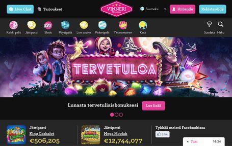 Vinneri Nettikasino Arvostelu ja Kokemuksia Screenshot