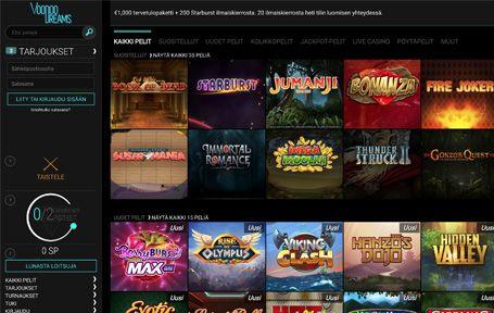 VoodooDreams Casino Arvostelu ja Kokemuksia Screenshot