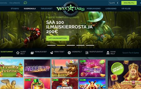 Wixstars Casino Arvostelu ja Kokemuksia Screenshot