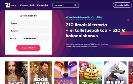 21.Com casino kokemuksia ja arvostelu Screenshot