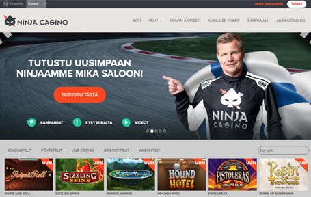 Ninja Casino Arvostelu ja Kokemuksia Screenshot