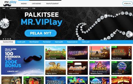 Mr Play Casino Arvostelu ja Kokemuksia Screenshot