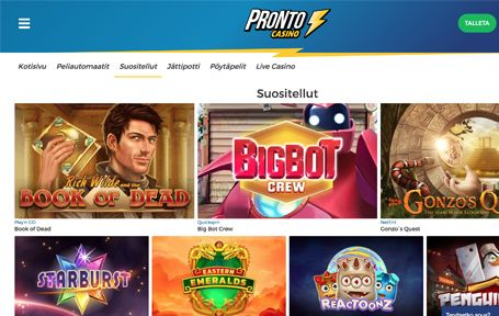 Pronto casino kokemuksia ja arvostelu Screenshot