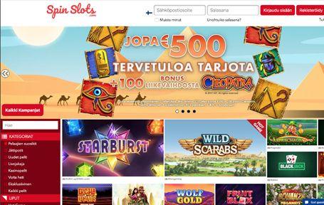 Spinslots Casino Arvostelu ja Kokemuksia Screenshot