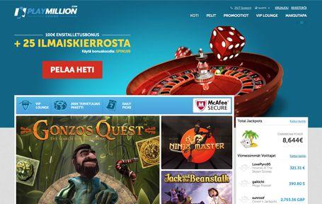 PlayMillion Casino Arvostelu ja Kokemuksia Screenshot