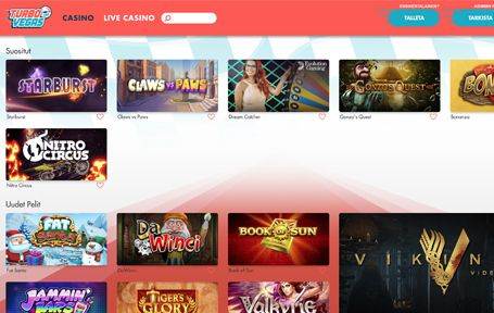 Turbo Vegas Casino kokemuksia ja arvostelu Screenshot