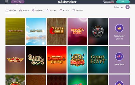 Wishmaker Casino Arvostelu ja Kokemuksia Screenshot