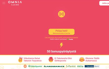 Omnia Casino Kokemuksia & Arvostelu 2019 Screenshot