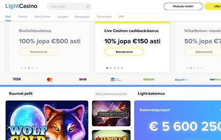 Light Casino Kokemuksia & Arvostelu 2019 Screenshot